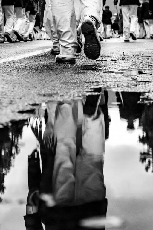 """fotografía """"Alarde entre Charcos"""", de Joel Iglesias Santiago, ganadora del XI memorial, en 2017"""